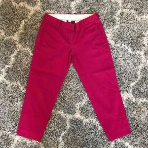 J. Crew Stretch Chino Ankle Length Pants